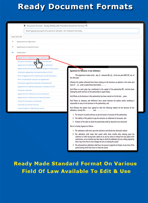 Ready precedent document formats, editable for intant use - LawyerServices Feature Preview 8 of 12.